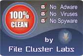 """100 % Clean"" Award from File Cluster"